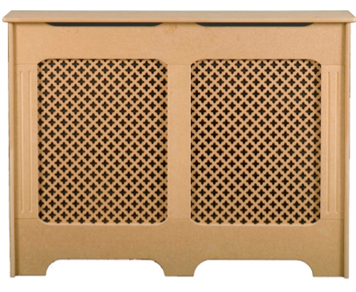 Kabalo Traditional Modern Design Radiator Cover Cabinet READY TO PAINT MDF Medium Size - To fit radiators up to 1090mm(W) x 870mm(H) x  140mm(D)