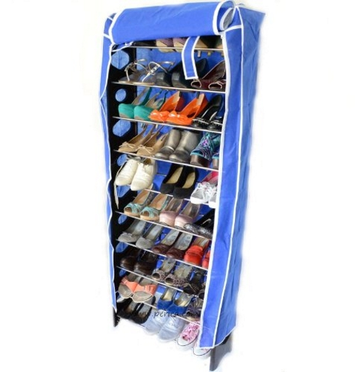 Kabalo 10-Tier (30 pairs capacity) Shoes Storage Organiser Stand Shelf Rack Holds 30 Pairs WITH FREE COVER!
