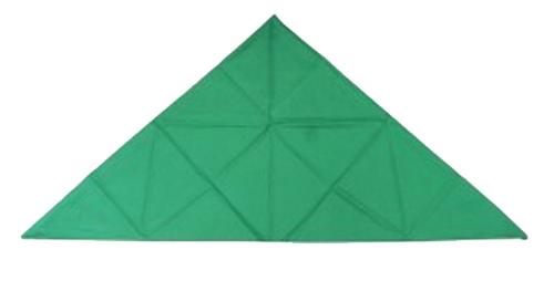 Kabalo Green Triangular Chefs Bandana
