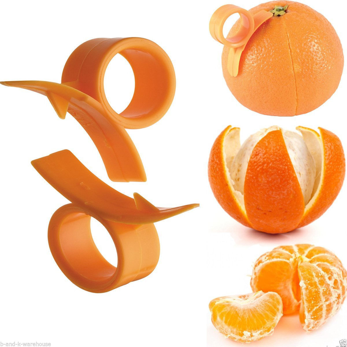 Kabalo Orange Peelers 2pc set - Finger Held Grapefruit Lemon Orange Peeler Citrus Peel Opener Kitchen Tool