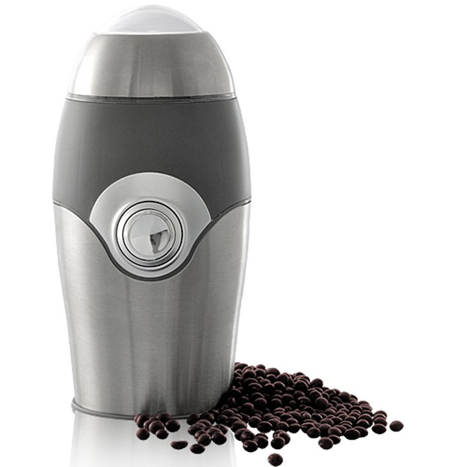 Kabalo Electric Coffee Bean Grinder & Nut/Spice Grinder Kitchen Accessory (Grey & Silver)