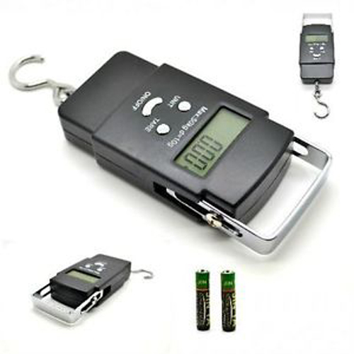Kabalo Portable Handheld Digital Luggage and Fishing Scales Balance Weighing Suitcase 40kg capacity with hook - 2 x AAA batteries included!
