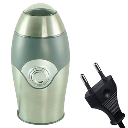 Kabalo EU PLUG Silver / Grey Metal Electric Coffee Bean, Nuts, Spices and Grains Grinder 150W, 70g (10 cup) capacity!