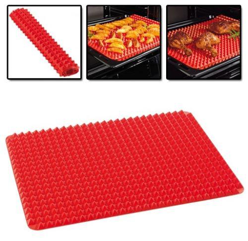 Kabalo Pyramid Pan - Fat Reducing Large Textured Baking Sheet (40cm x 29cm) Silicone Cooking Mat
