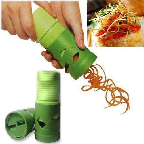 Kabalo Easy Veggie Twister Spiral Cutter Slicer Peeler Grater Fruit Vegetable Garnish Kitchen Utensil Tool