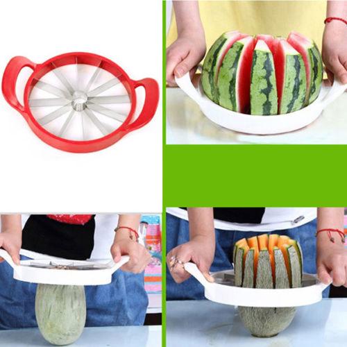 Kabalo Easy Fruit Melon Slicer - Cantaloupe Watermelon Slicer Kitchen Tool Stainless Steel Cutter